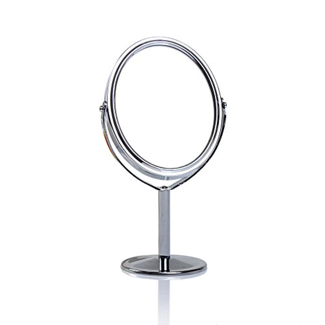 ホスト言い聞かせる良心Dream 化粧鏡 両面 化粧ミラー 美容鏡 卓上鏡 浴室鏡 女優ミラー 防水 (B)