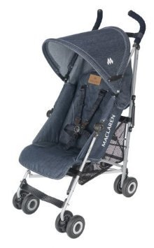Maclaren  マクラーレン ベビーカー 限定 Quest Sport Stroller, Limited Edition, Denim (Discontinued by Manufacturer) [並行輸入品]