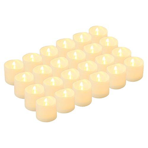 Kohree LED キャンドルライト 無香料 揺らぐ炎 ティーライトゆらゆら揺れる 装飾用 本物にそっくり 暖白 24個セット