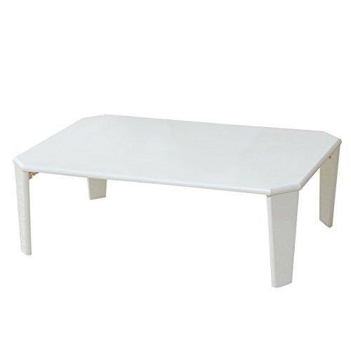 山善(YAMAZEN) 折れ脚 ローテーブル(90×60) ホワイト TWL-9060(WH)