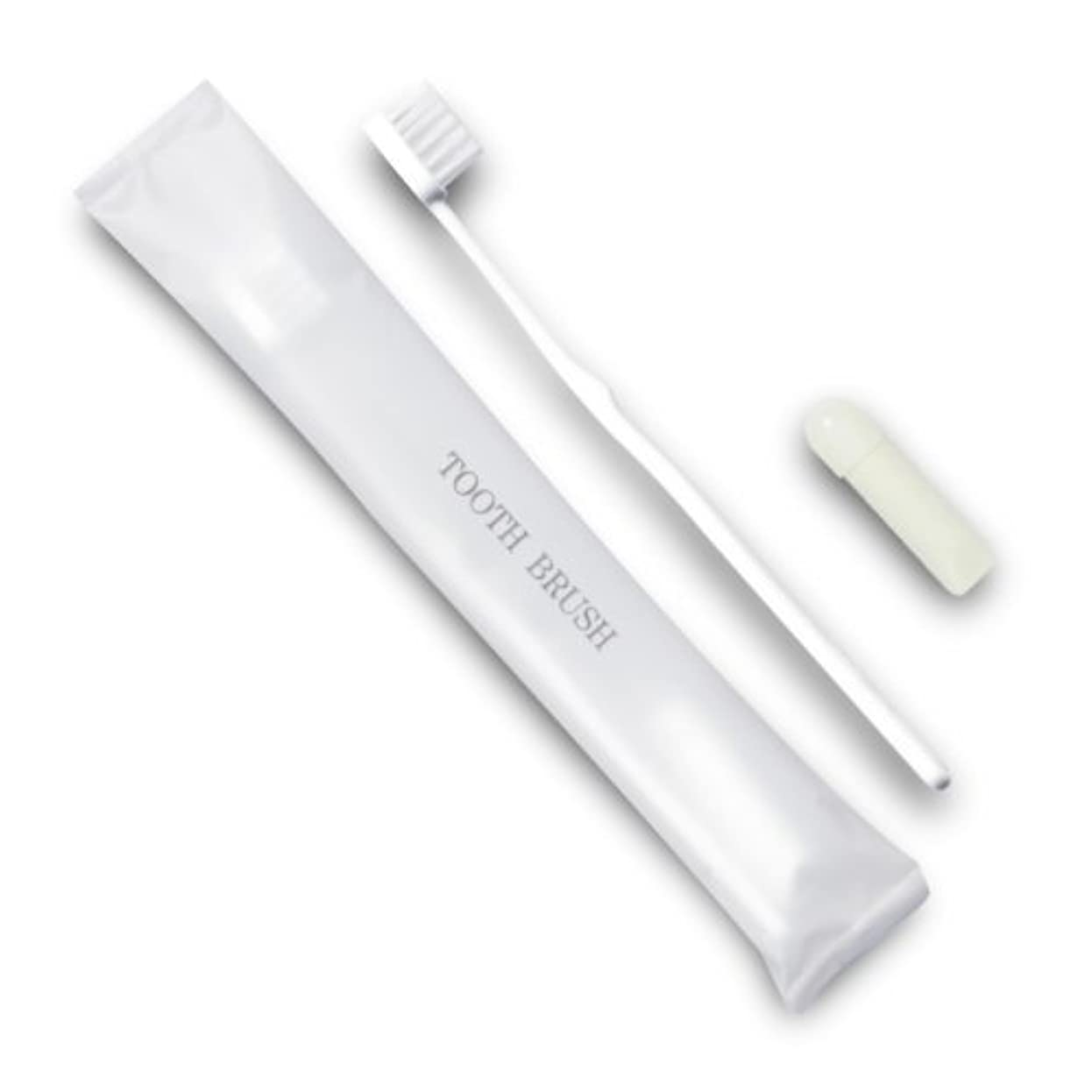 深く打たれたトラック特権的ホテル業務用歯ブラシ21穴(白)3gチューブ マット袋FタイプDX 700本