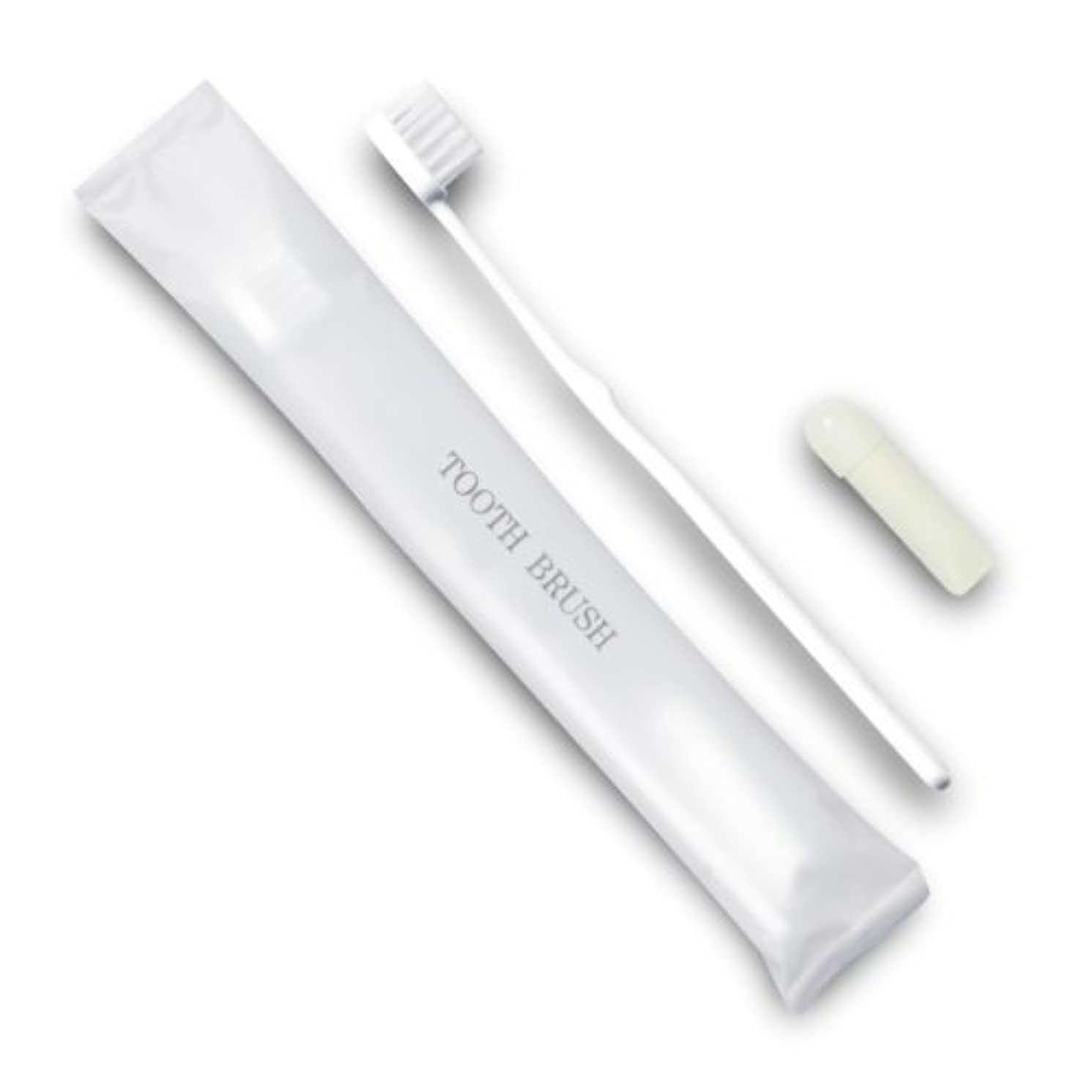 キュービックオズワルド刺すホテル業務用歯ブラシ21穴(白)3gチューブ マット袋FタイプDX 700本