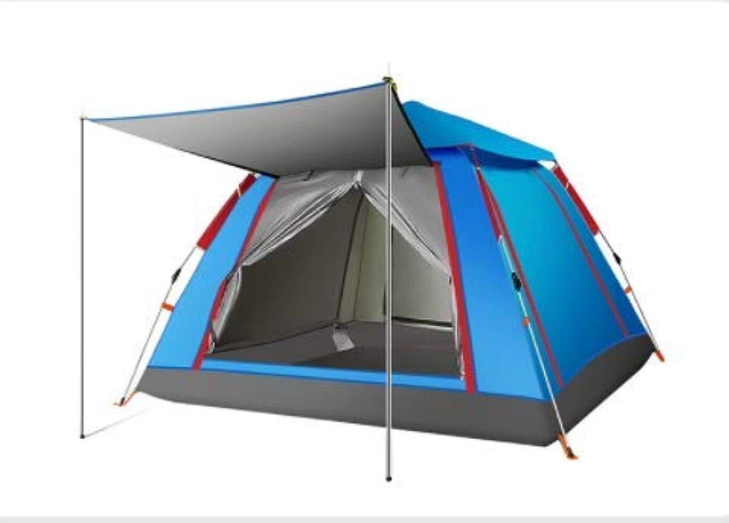 列挙する切断する採用するLishangl 自動テント屋外2-3-4人厚い防雨家族キャンプテントバッチ