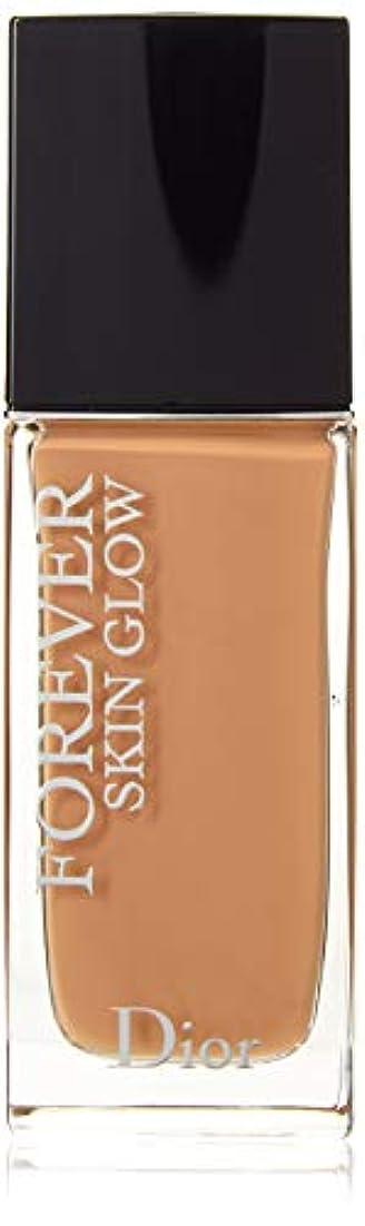 カウントへこみ作動するクリスチャンディオール Dior Forever Skin Glow 24H Wear High Perfection Foundation SPF 35 - # 4WP (Warm Peach) 30ml/1oz並行輸入品
