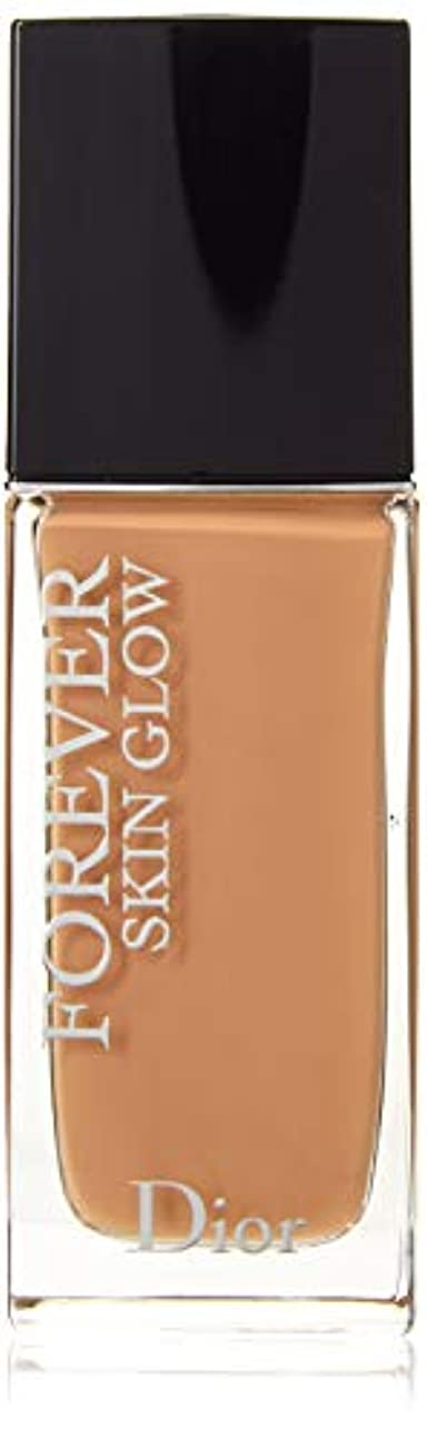 文芸魔女十二クリスチャンディオール Dior Forever Skin Glow 24H Wear High Perfection Foundation SPF 35 - # 4WP (Warm Peach) 30ml/1oz並行輸入品