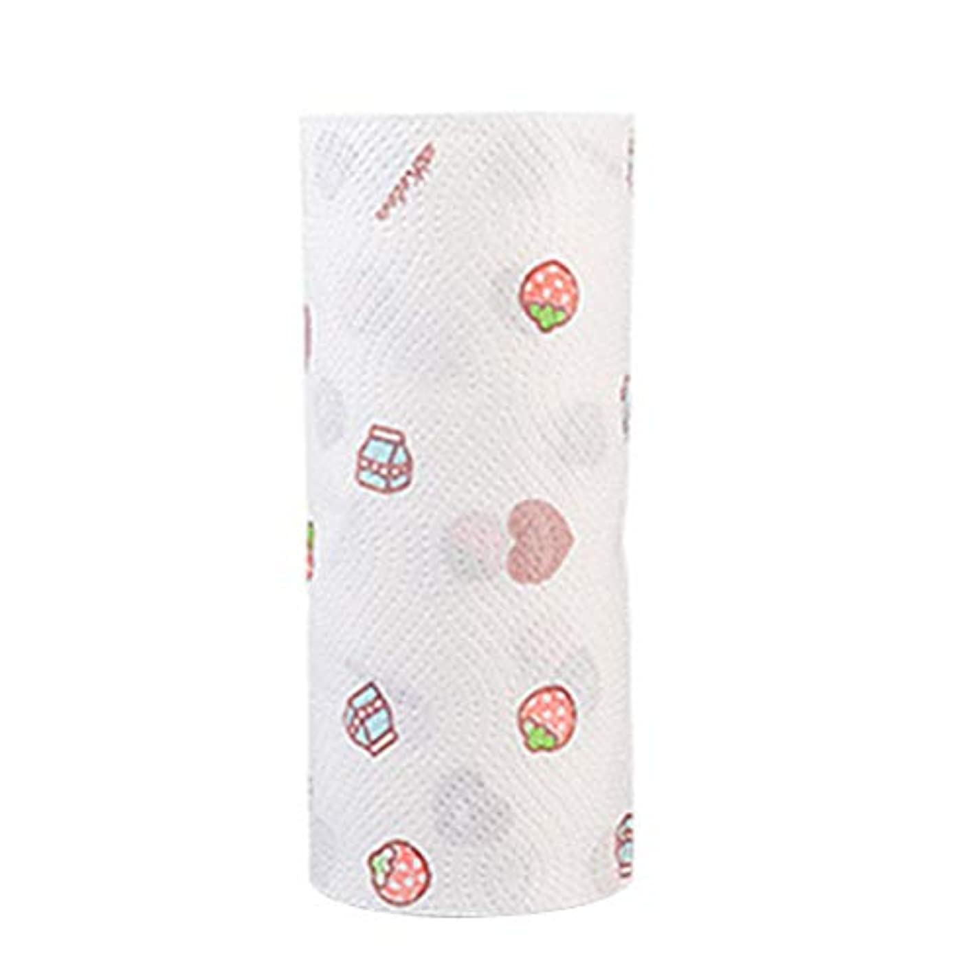 Healifty 台所紙ロール手乾燥オイルブロッティングブッチャーペーパー(ランダムスタイル)