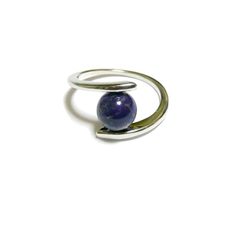 【 シンプル/ツイスト 】 ラピスラズリ の 指輪/リングサイズ 約 10号