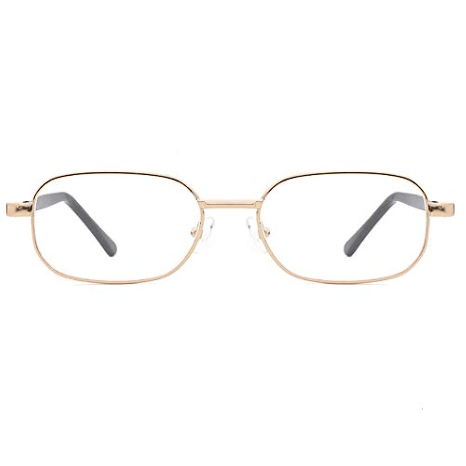 ピービッシュエピソードビジターデラックス老眼鏡、快適なフィットスプリングヒンジ、男性用ゴールドHd、クラシック、耐久性