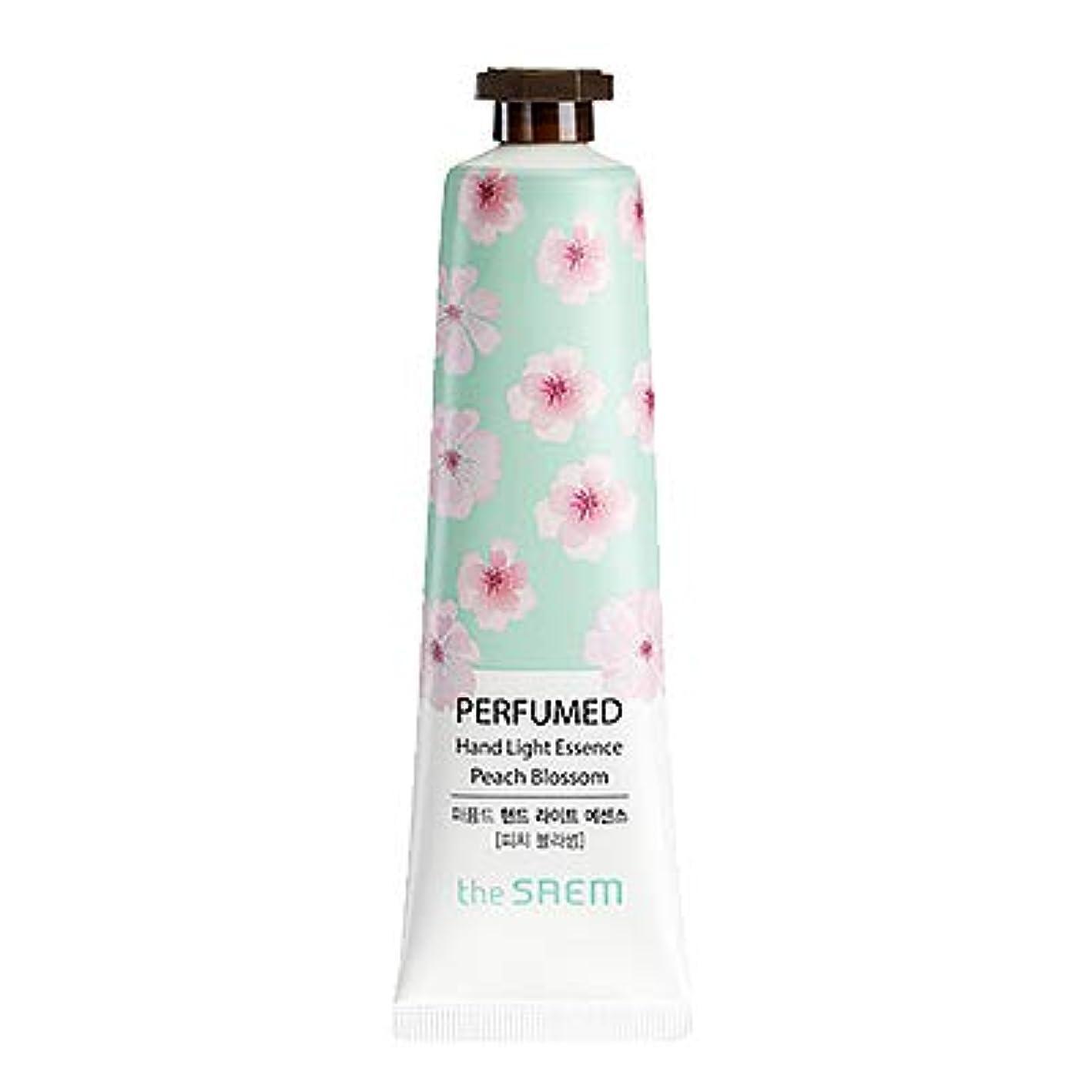 せがむ赤ちゃん作成するtheSAEM ザセム パヒューム ハンド ライト エッセンス ハンドクリーム PERFUMED HAND LIGHT ESSENCE 韓国コスメ (E-Peach Blossom(ピーチブロッサム))