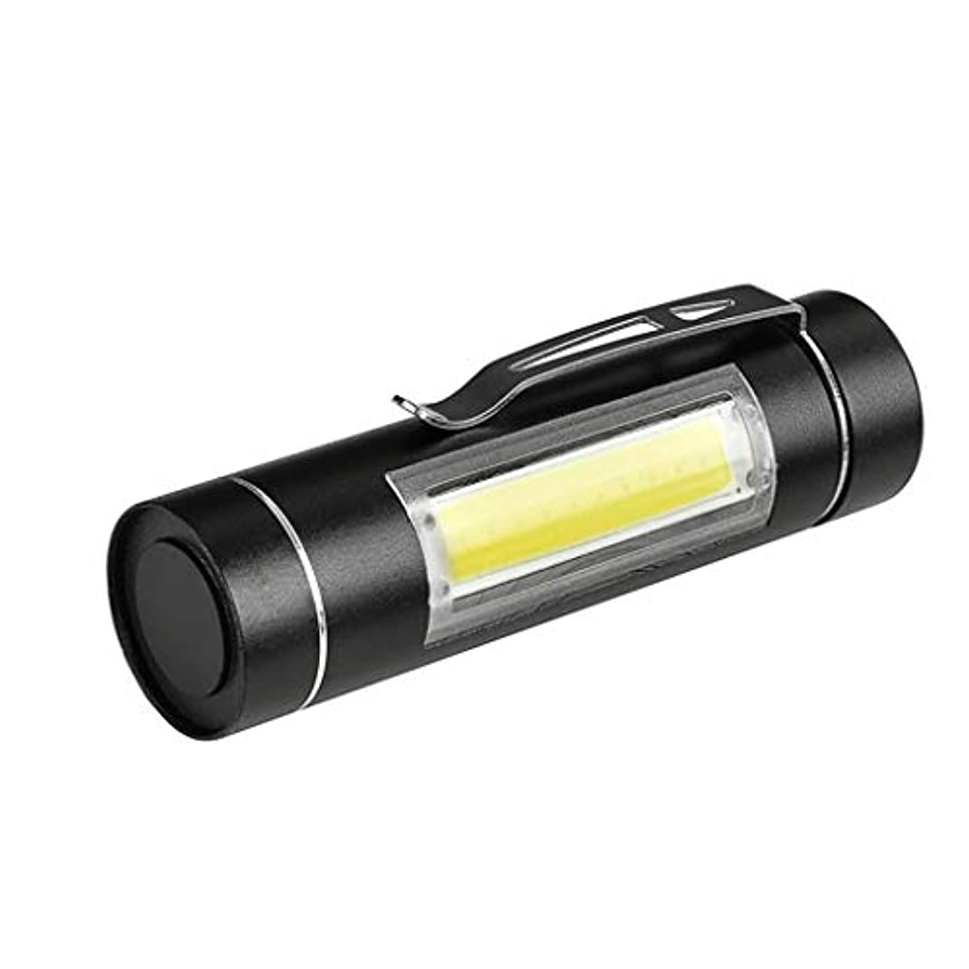 ティームたっぷり抜け目のないXPE Q5 COB LED 懐中電灯 小型 便利 ハンディライト 高輝度 TangQI 14500&単三電池 防水 高性能 多用途 防水 防塵 停電 地震 キャンプ 読書 ハイキング