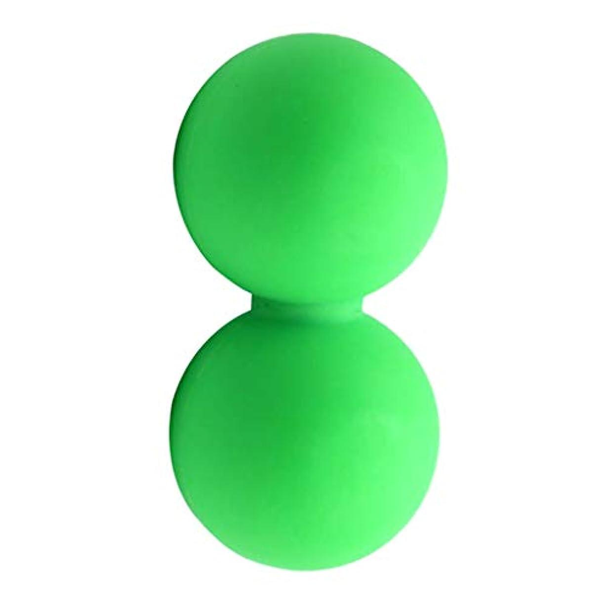 実施するごみたらいマッサージボール グリーン スポーツケア 運動 痛み緩和