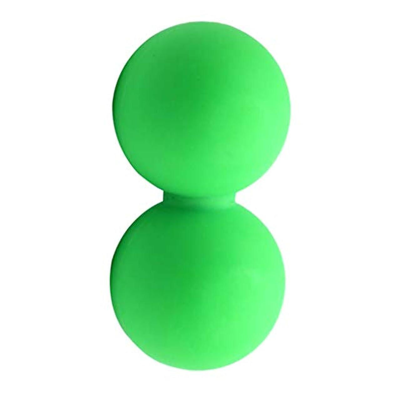 サンダー安全性到着するマッサージボール グリーン スポーツケア 運動 痛み緩和