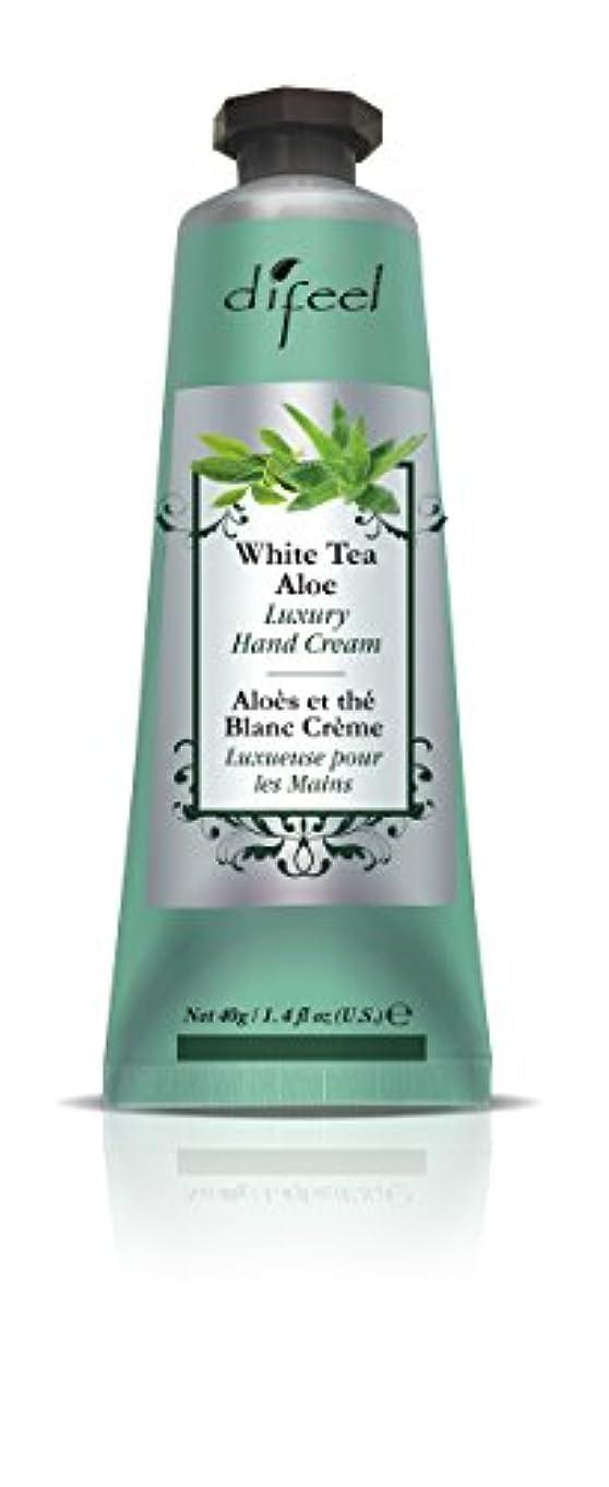 過度に識別する禁止Difeel(ディフィール) ホワイトティー&アロエ ナチュラル ハンドクリーム 40g WHITE TEA&ALOE 07WTAn New York
