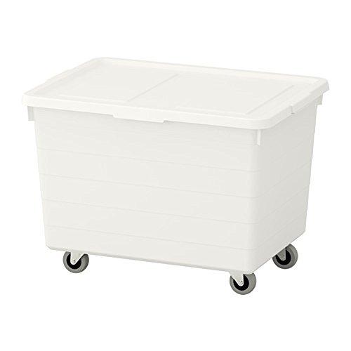 IKEA(イケア) SOCKERBITボックス キャスター&ふた付38x51x37cm