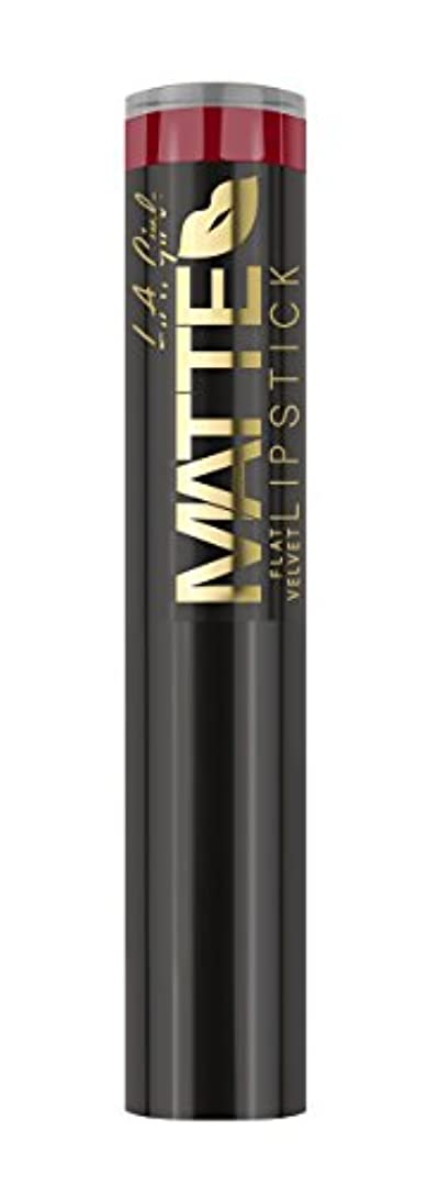 ローブ陽気な病的L.A. GIRL Matte Flat Velvet Lipstick - Bite Me (並行輸入品)