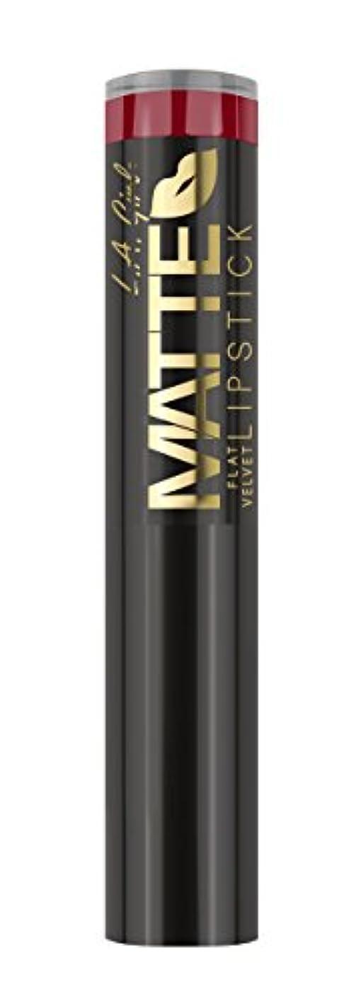 鉄道口ひげ数字L.A. GIRL Matte Flat Velvet Lipstick - Bite Me (並行輸入品)