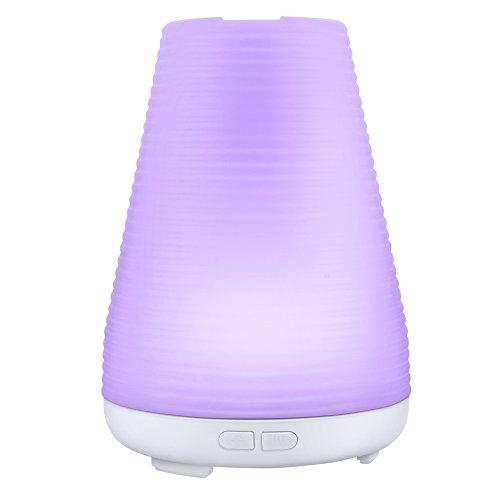 【ノーブランド品】 アロマディフューザー 加湿器 超音波式 アロマポット ライト 多色変換LED付き 超音波式アロマ加湿器