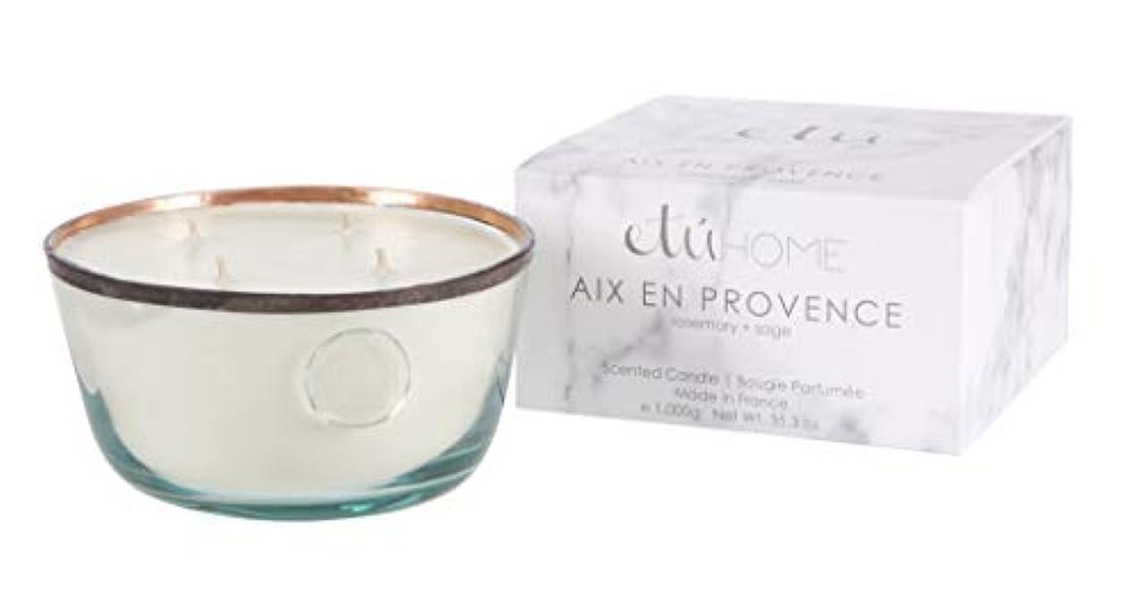 逆説眉をひそめる工場Large Candle、Aix en Provence、ローズマリー+セージ