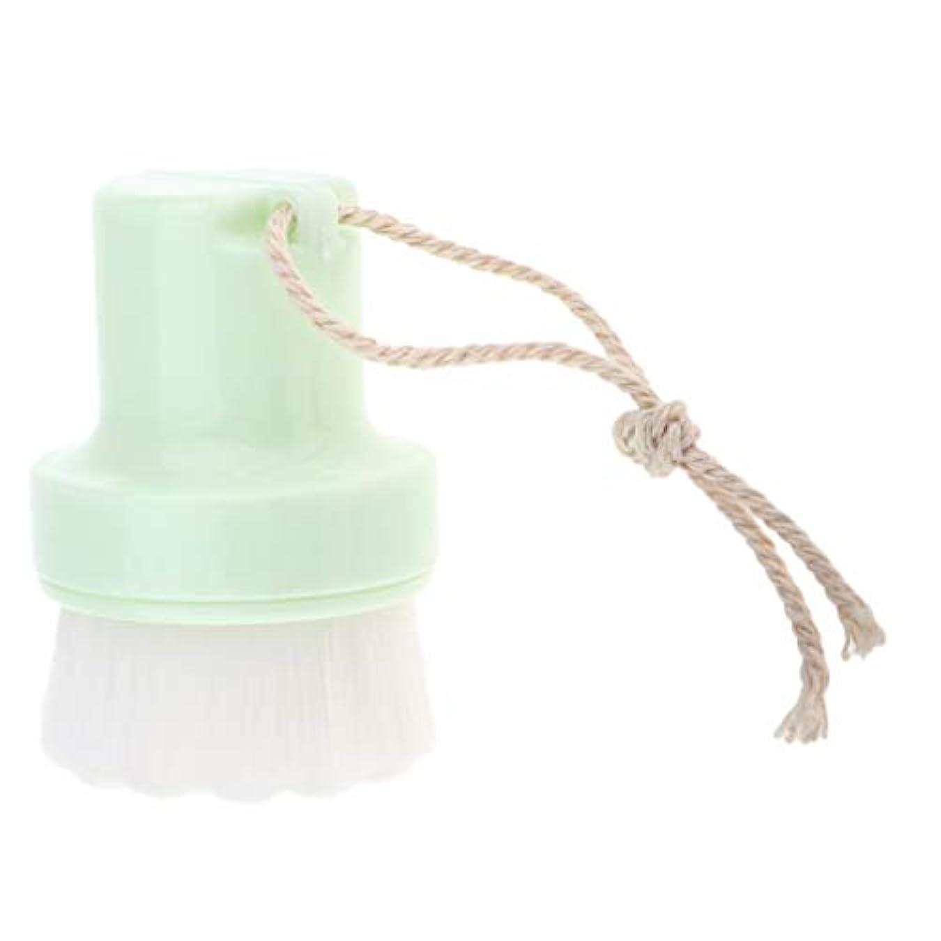 サバント肺炎マガジンPerfeclan 洗顔ブラシ ボディケア 毛穴ブラシ ソフト フェイスブラシ 洗顔道具 携帯便利 全2色 - グリーン