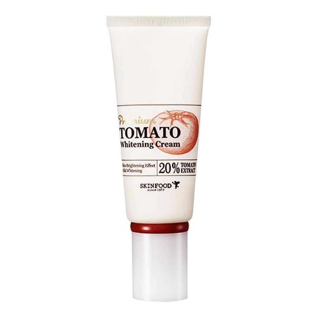 ネット立方体チーズSkinfood プレミアムトマトホワイトニングクリーム(美白効果) / Premium Tomato Whitening Cream (Skin-Brightening Effect) 50g [並行輸入品]