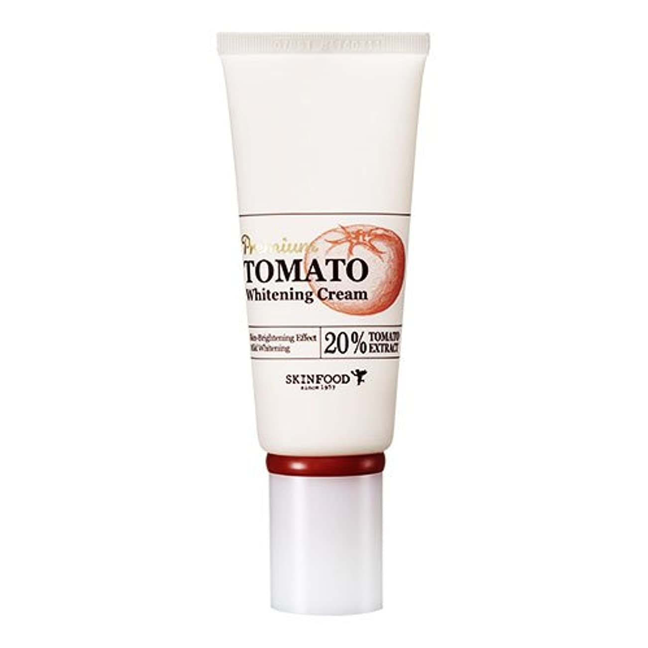 マラソンエンゲージメント動くSkinfood プレミアムトマトホワイトニングクリーム(美白効果) / Premium Tomato Whitening Cream (Skin-Brightening Effect) 50g [並行輸入品]