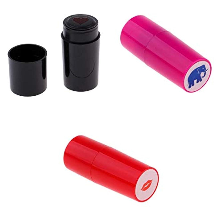 起訴する準備する不毛のスタンパー ゴルフ用品 ボールスタンパー ゴルフマーカー 唇/象形 速乾性 永久的 3個入り