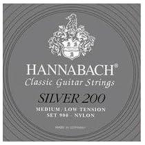 HANNABACH/クラシックギター弦 Silver 200/SET900【ハナバッハ】銀 MLT ミディアムローテンション