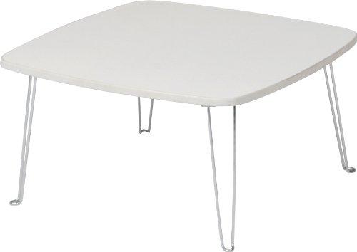 不二貿易 カラーテーブル 角 幅60 ホワイト 89333