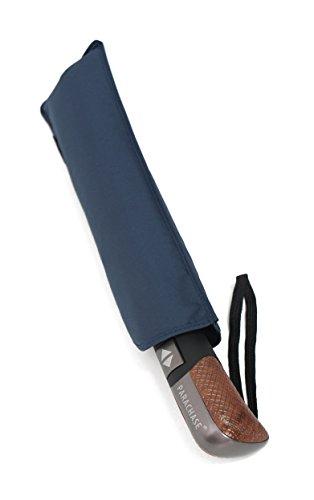 PARACHASE 折りたたみ傘 自動開閉 メンズ 傘 携帯便利 風に強い ワンタッチ 撥水 丈夫 グラスファイバー 男性用 おしゃれ ブランド 開閉 スムーズ ラクラク 高級な手元 ケース 8本骨 直径102cm(G6-ブルー)