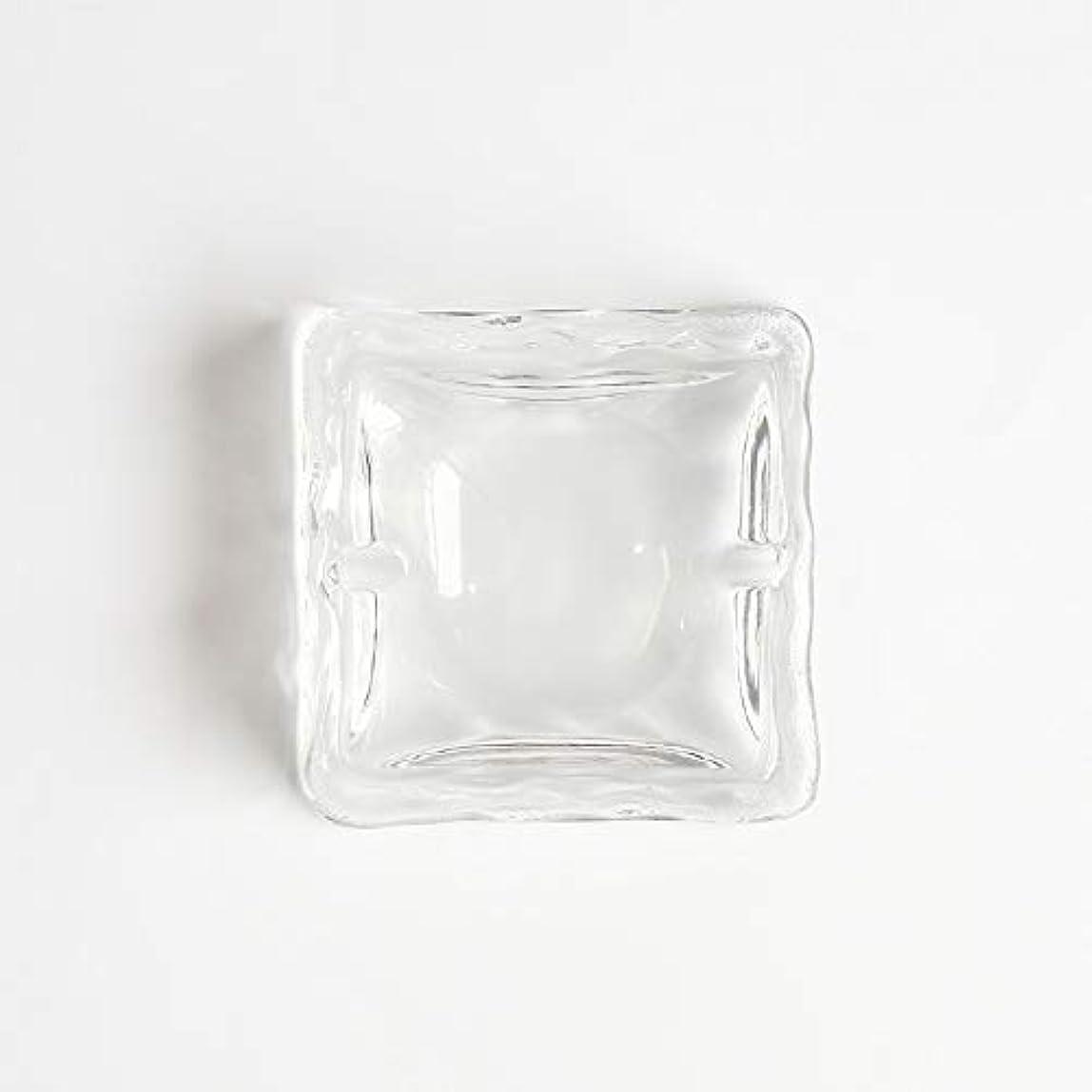 深めるスマートアンケートクリエイティブ屋外セラミックス灰皿ホームオフィスの卓上美しい装飾工芸品 (色 : クリア)
