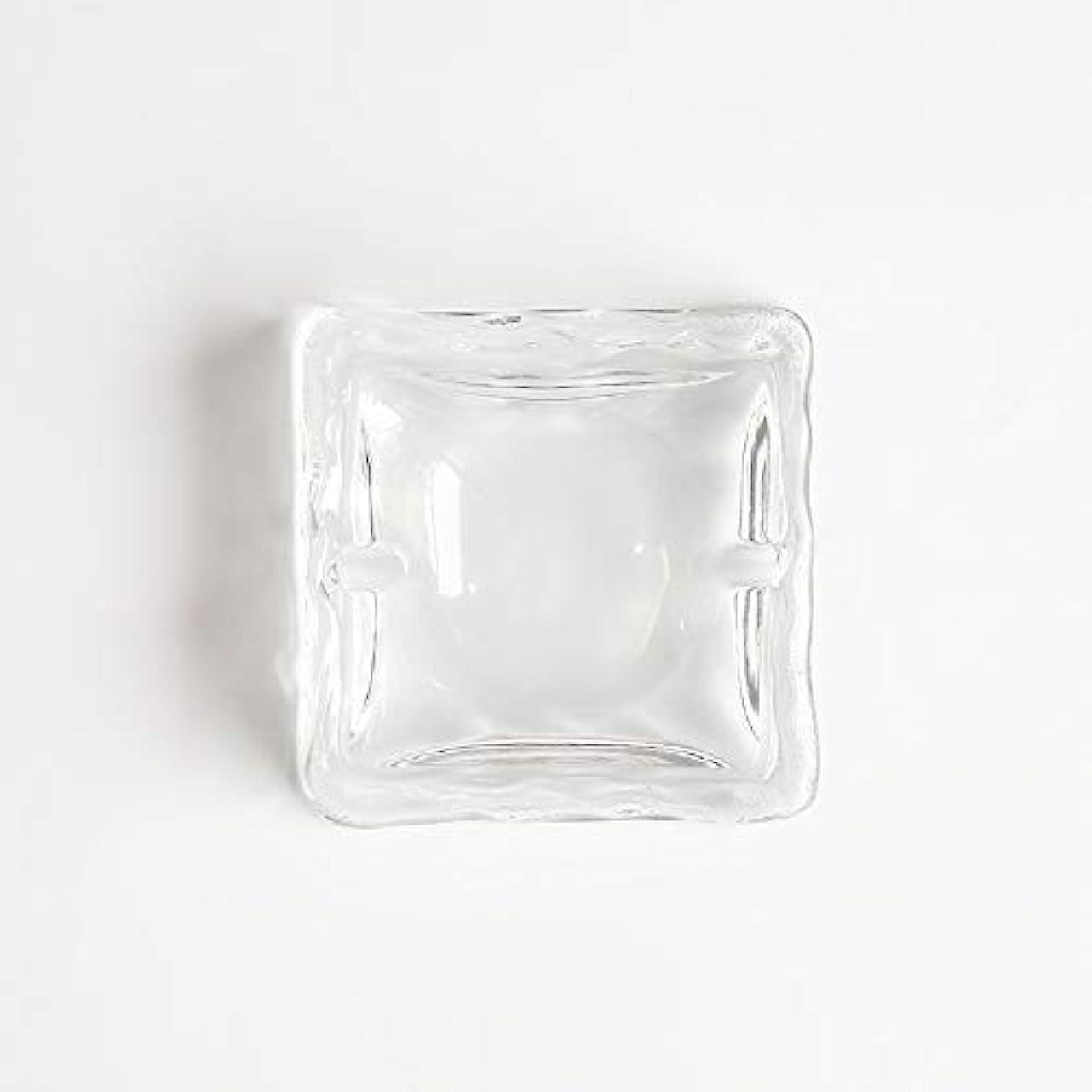 アンプ予見する趣味クリエイティブ屋外セラミックス灰皿ホームオフィスの卓上美しい装飾工芸品 (色 : クリア)
