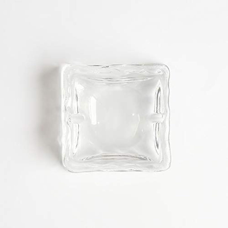 分析感染する抵抗力があるクリエイティブ屋外セラミックス灰皿ホームオフィスの卓上美しい装飾工芸品 (色 : クリア)