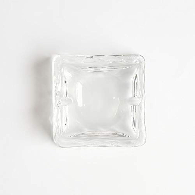 コウモリ定期的な顕微鏡クリエイティブ屋外セラミックス灰皿ホームオフィスの卓上美しい装飾工芸品 (色 : クリア)