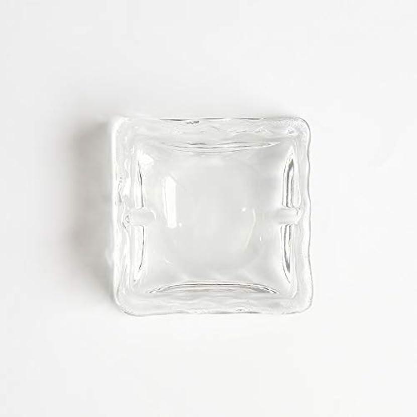 便利デコレーションマカダムクリエイティブ屋外セラミックス灰皿ホームオフィスの卓上美しい装飾工芸品 (色 : クリア)