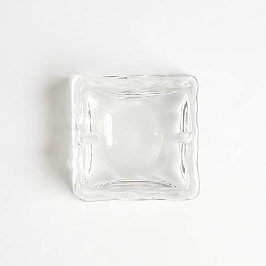自慢パターンファイバクリエイティブ屋外セラミックス灰皿ホームオフィスの卓上美しい装飾工芸品 (色 : クリア)