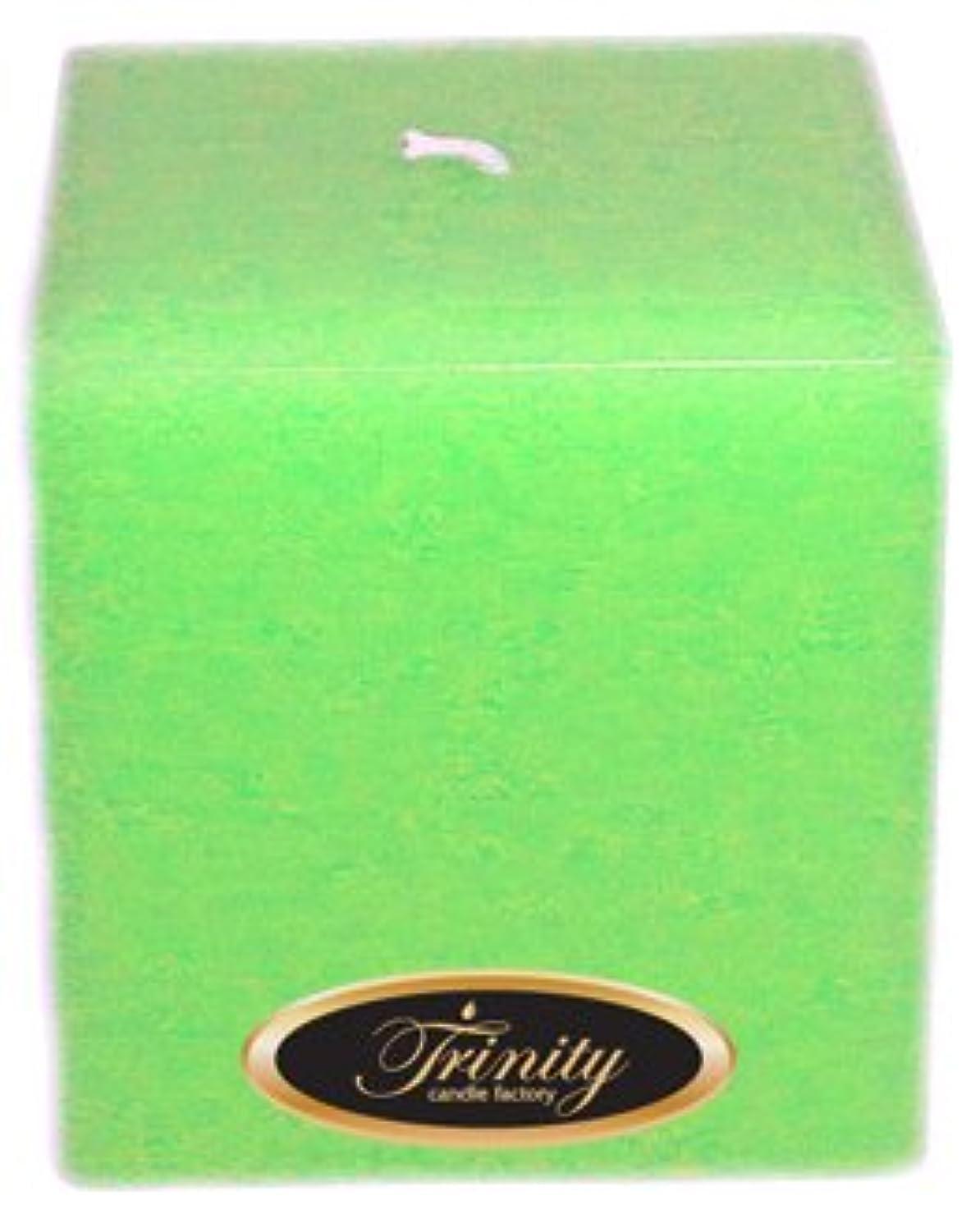 交じる蒸発兄Trinity Candle工場 – Frangipani – Pillar Candle – 正方形 – 4 x 4