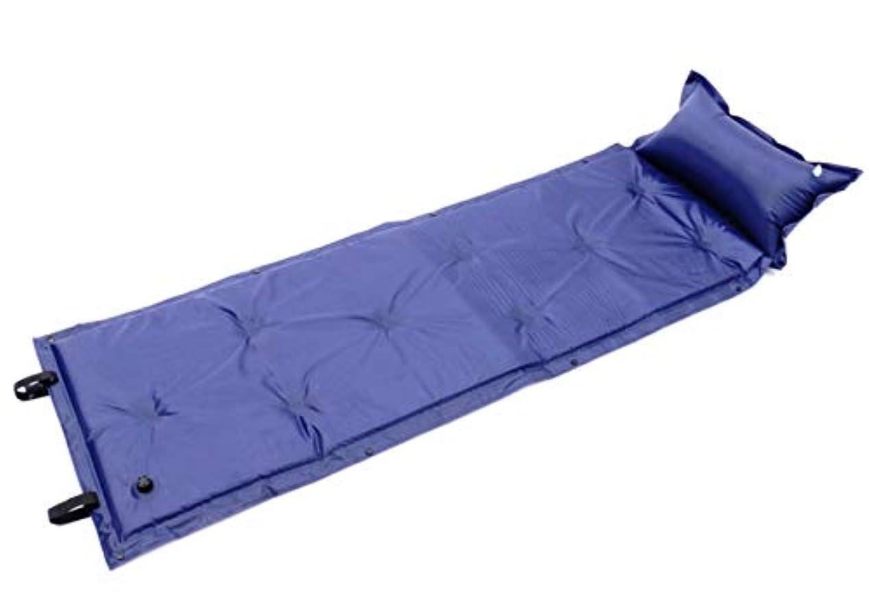 売り手保護するマーキーworld Imp JP 厚さ 5cm 折り畳み 自動膨張 エアーマット シングル ベッド 連結 可能 軽量 キャンピング マット コンパクト 収納 アウトドア 寝袋 お昼寝 エアピロー付 枕付き