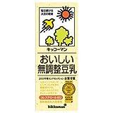 キッコーマン おいしい無調整豆乳 200ml紙パック×18本入×(2ケース)