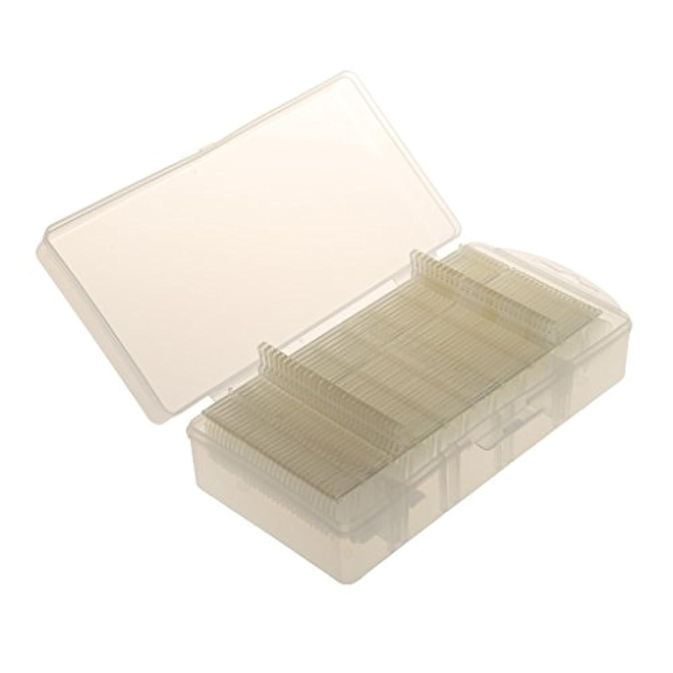 気味の悪い比較代数的DYNWAVE 300超薄型マット透明ネイルフルカバーチップデコレーションクリア