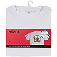 Cricut 2006822 Youth T-Shirt Blank, Crew Neck, Small Infusible Ink, White