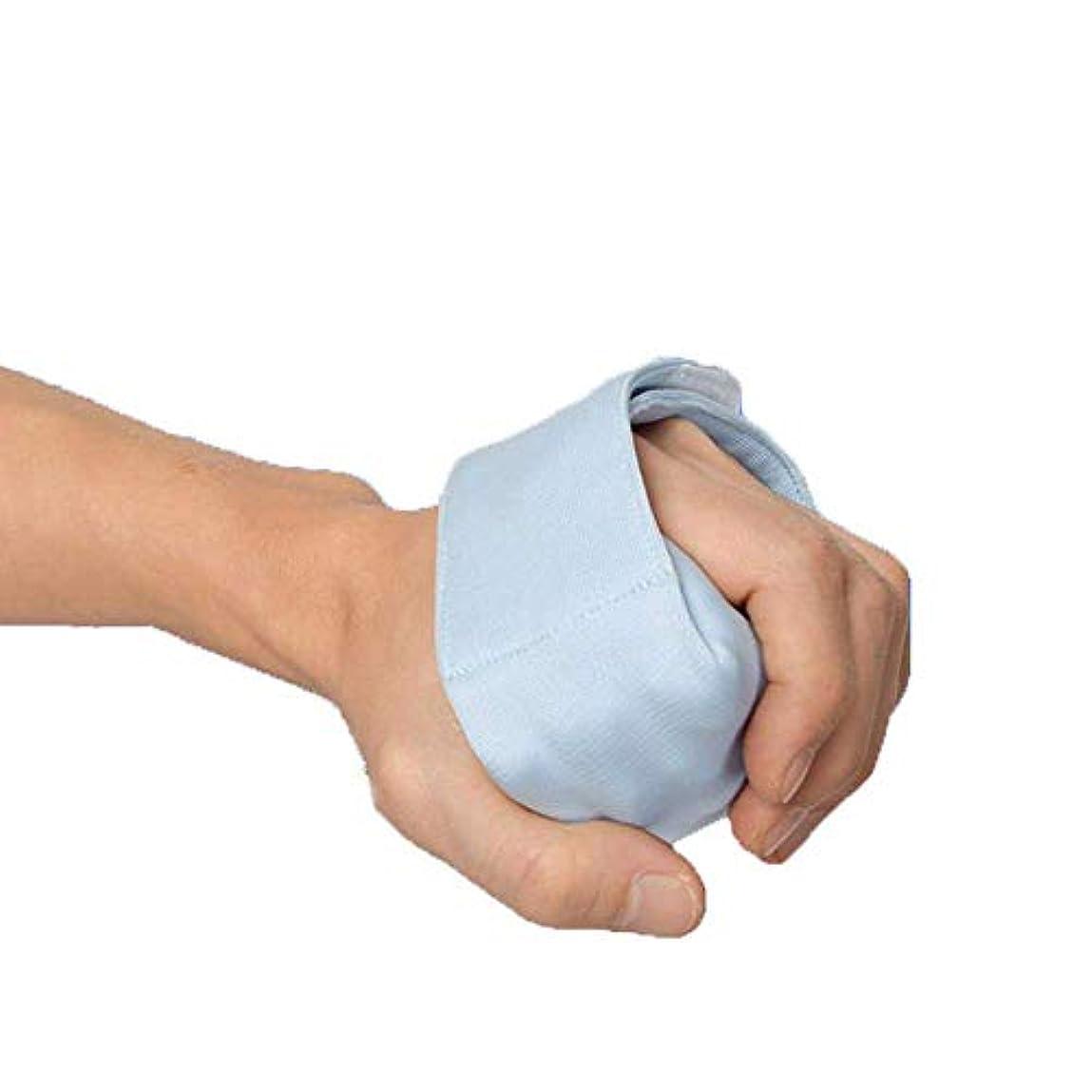 バージン大胆裁定指拘縮クッションリハビリテーションエイド - 人間工学に基づいたパームグリップ セパレートフィンガーズ&フィンガーフェスティング防止,L