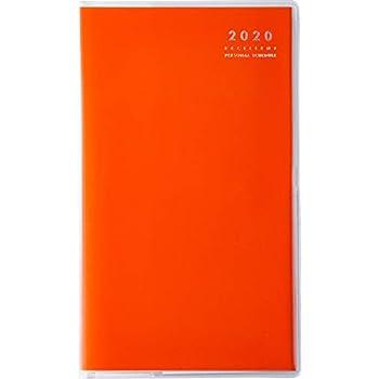 高橋 手帳 2020年 4月始まり マンスリー リベル インデックス 8 タンジェリンオレンジ No.668