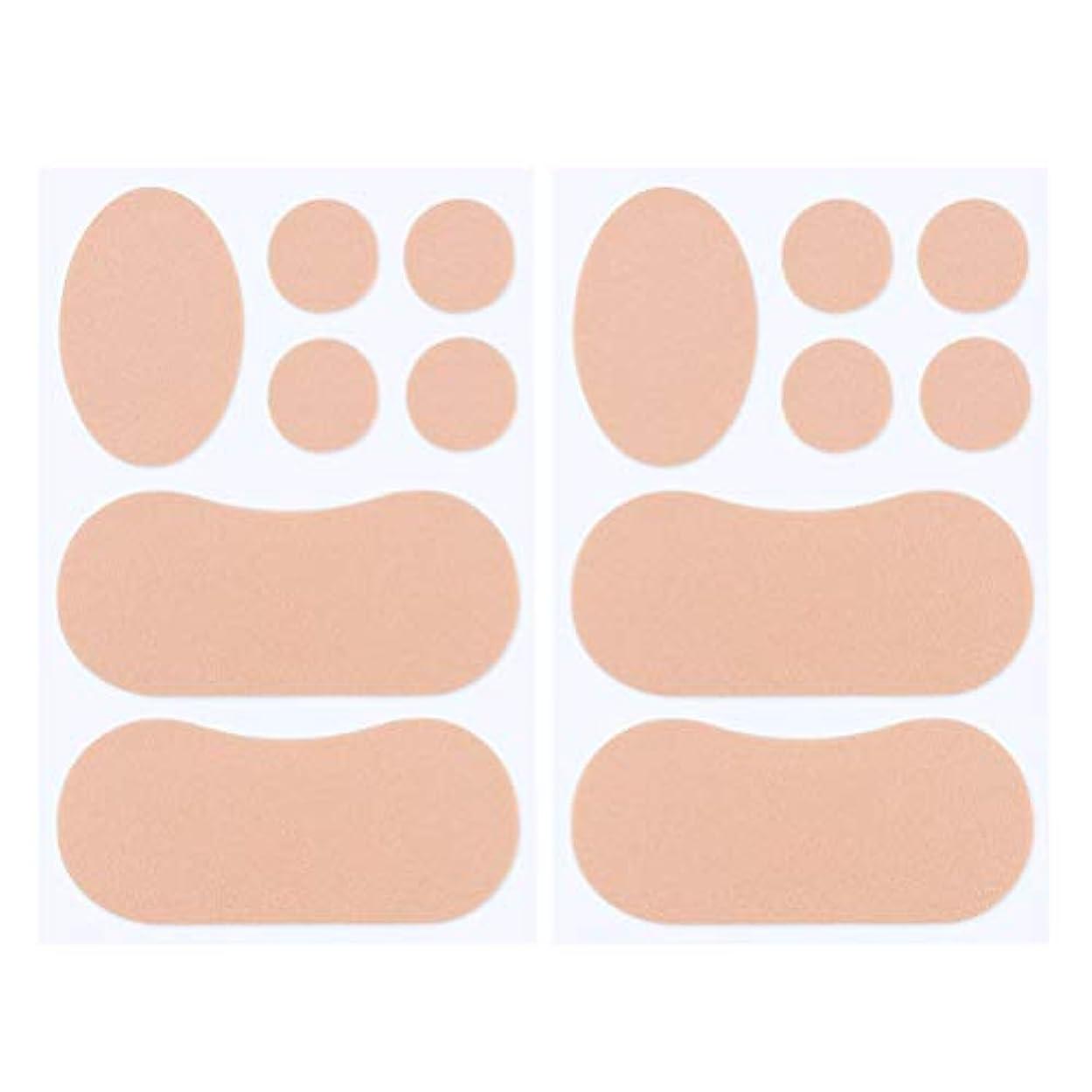 ロードハウスワゴンまだらFrcolor 2セット靴ずれ防止 ヒールステッカー つま先プロテクター フットケア