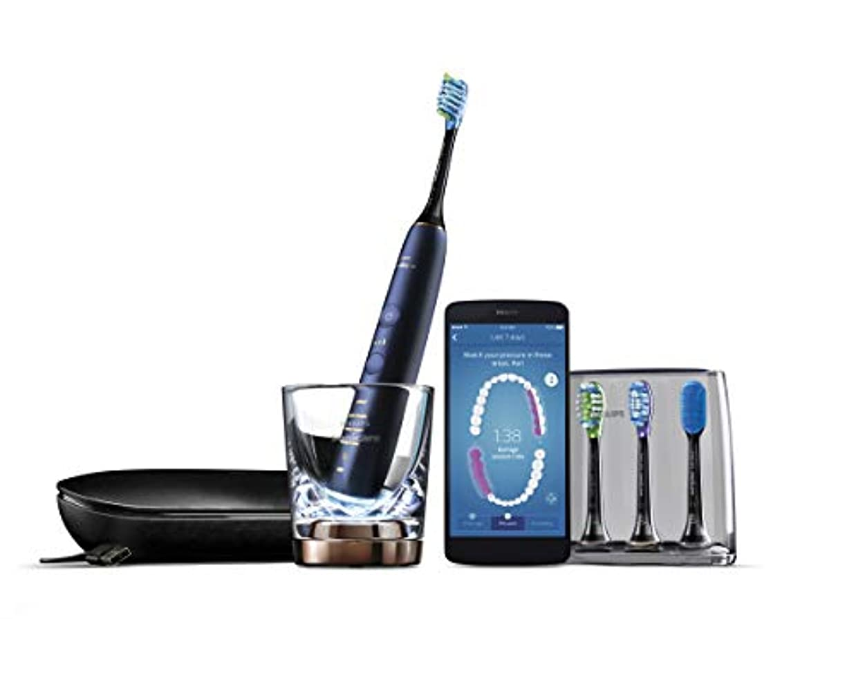 革命メタン電話するフィリップス ソニッケアー ダイヤモンドクリーン スマート 電動歯ブラシ ルナーブルー HX9964/55