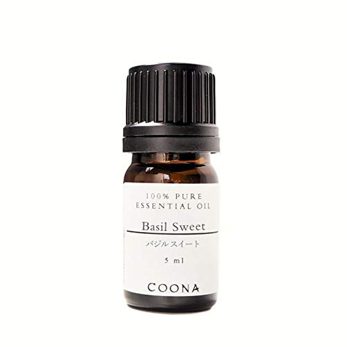 機転保護するマウスピースバジル スイート 5 ml (COONA エッセンシャルオイル アロマオイル 100%天然植物精油)
