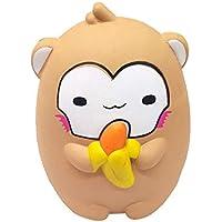 Squishies ジャンボ 低反発 子供用 Lovely Collection Toys バナモンキー 香り付き ストレス解消おもちゃ ホップ小道具 15cmx11.5cmx11cm マルチカラー ILUCI