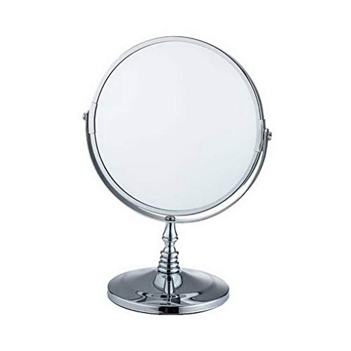 複合潮ペインACMEDE 化粧鏡 卓上鏡 鏡 拡大鏡 卓上 折りたたみ 2倍&3倍&5倍 明るさ調節可能 360°回転 メイク道具 両面化粧鏡 洋式アームミラー