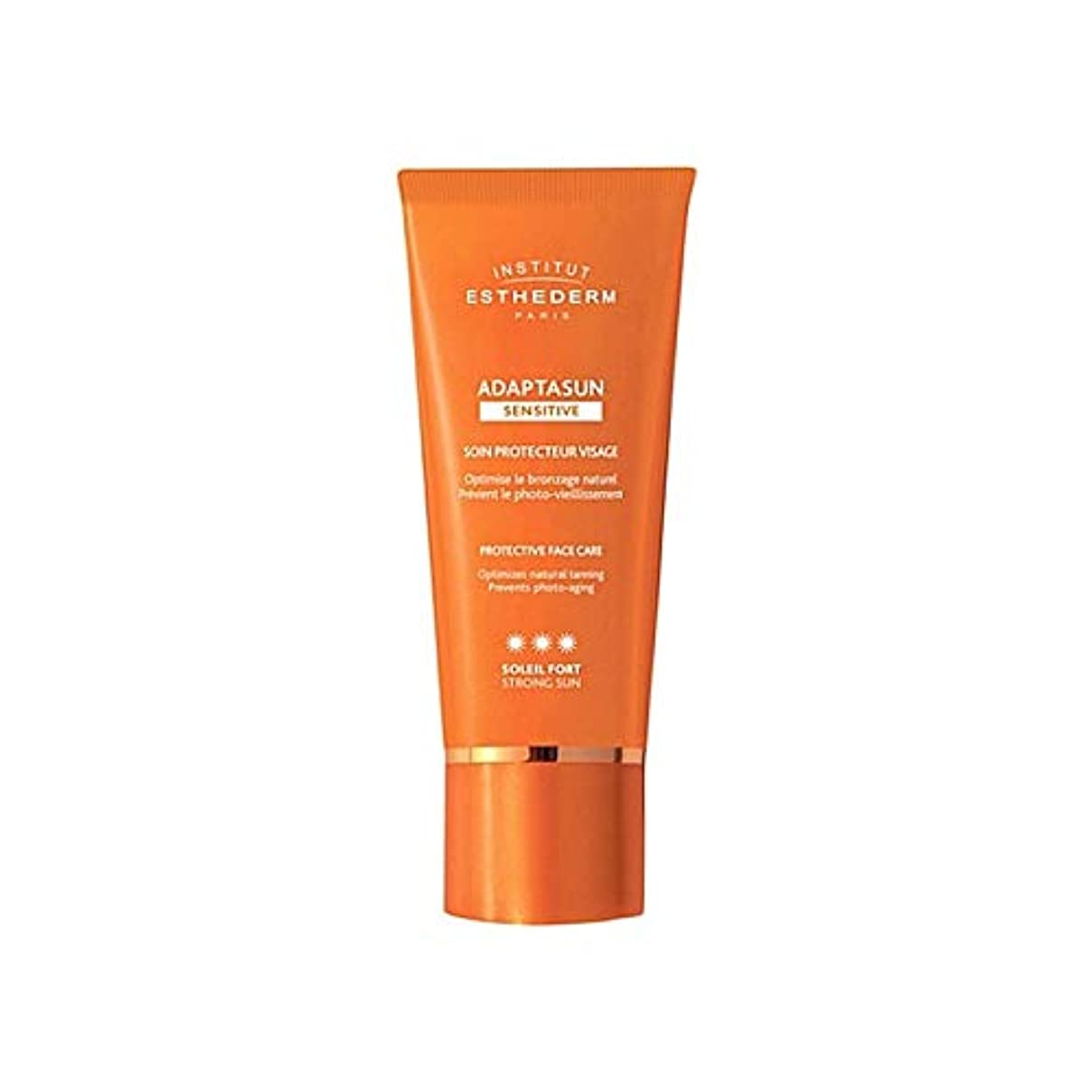 かき混ぜる秋無限[Institut Esthederm] 研究所のEsthedermのAdaptasun敏感肌の強い日顔クリーム50ミリリットル - Institut Esthederm Adaptasun Sensitive Skin Strong Sun Face Cream 50ml [並行輸入品]