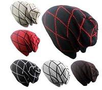 秋冬毛糸帽子アウトドア男女ストライプ ヒップホップニット帽子 6色
