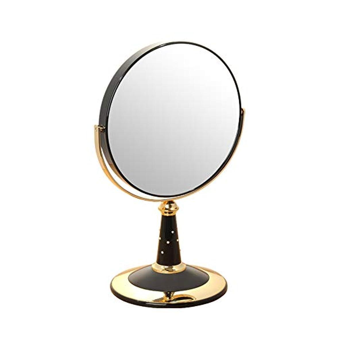 作者リスト光景DNSJB 7インチのバニティミラー、360度回転する拡大鏡、4色のドレッシングテーブルメイクアップミラー (Color : Black)